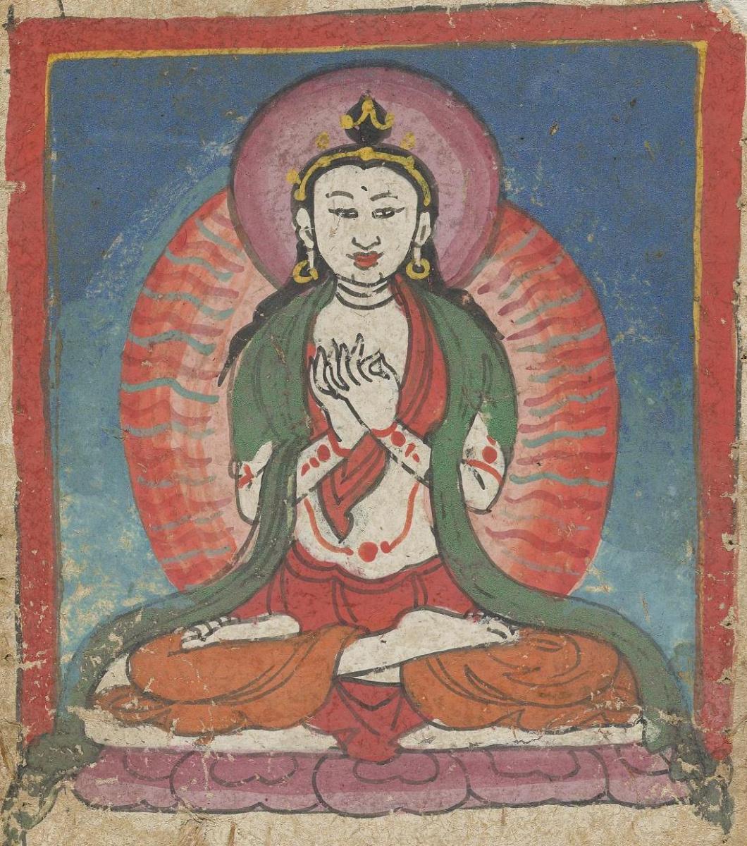Unknown artist. The deity of the Tibetan Bon religion. Map 19