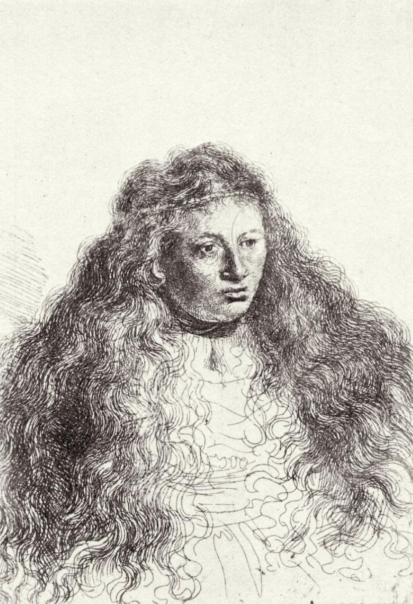 Рембрандт Харменс ван Рейн. Женщина с распущенными волосами (Саския)