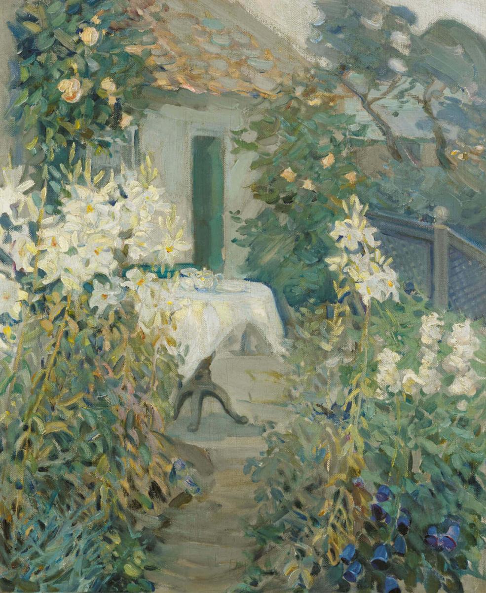 Helen Galloway McNicoll. Tea party