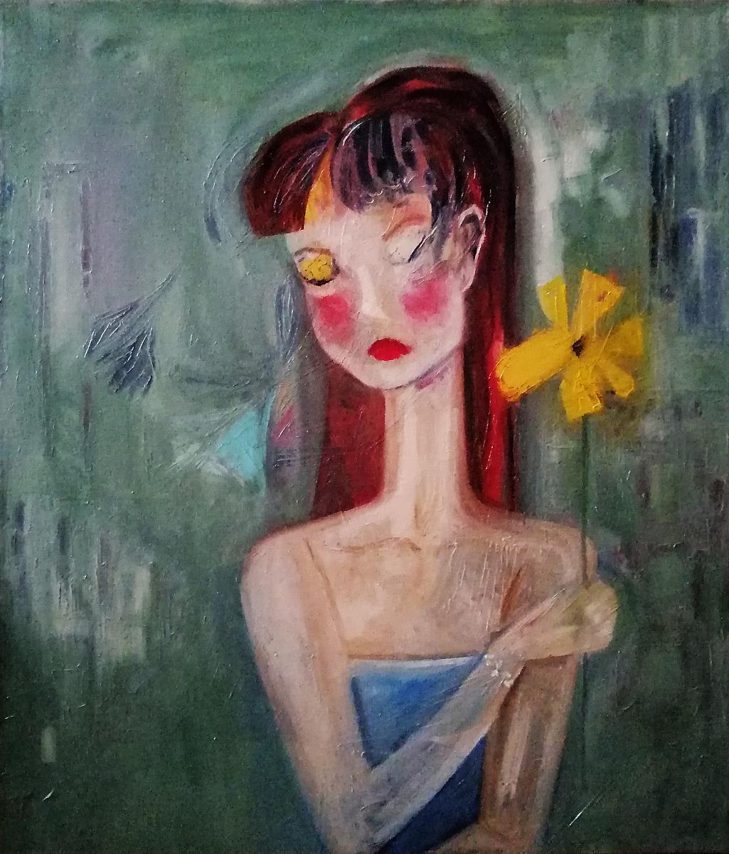 Igor Veniaminovich Bondarenko. Girl with flower