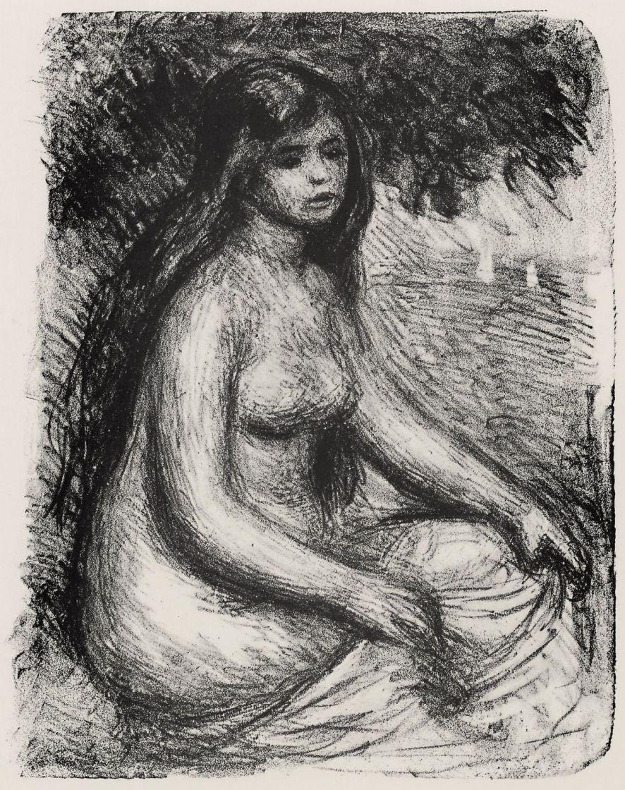 Pierre-Auguste Renoir. Bather