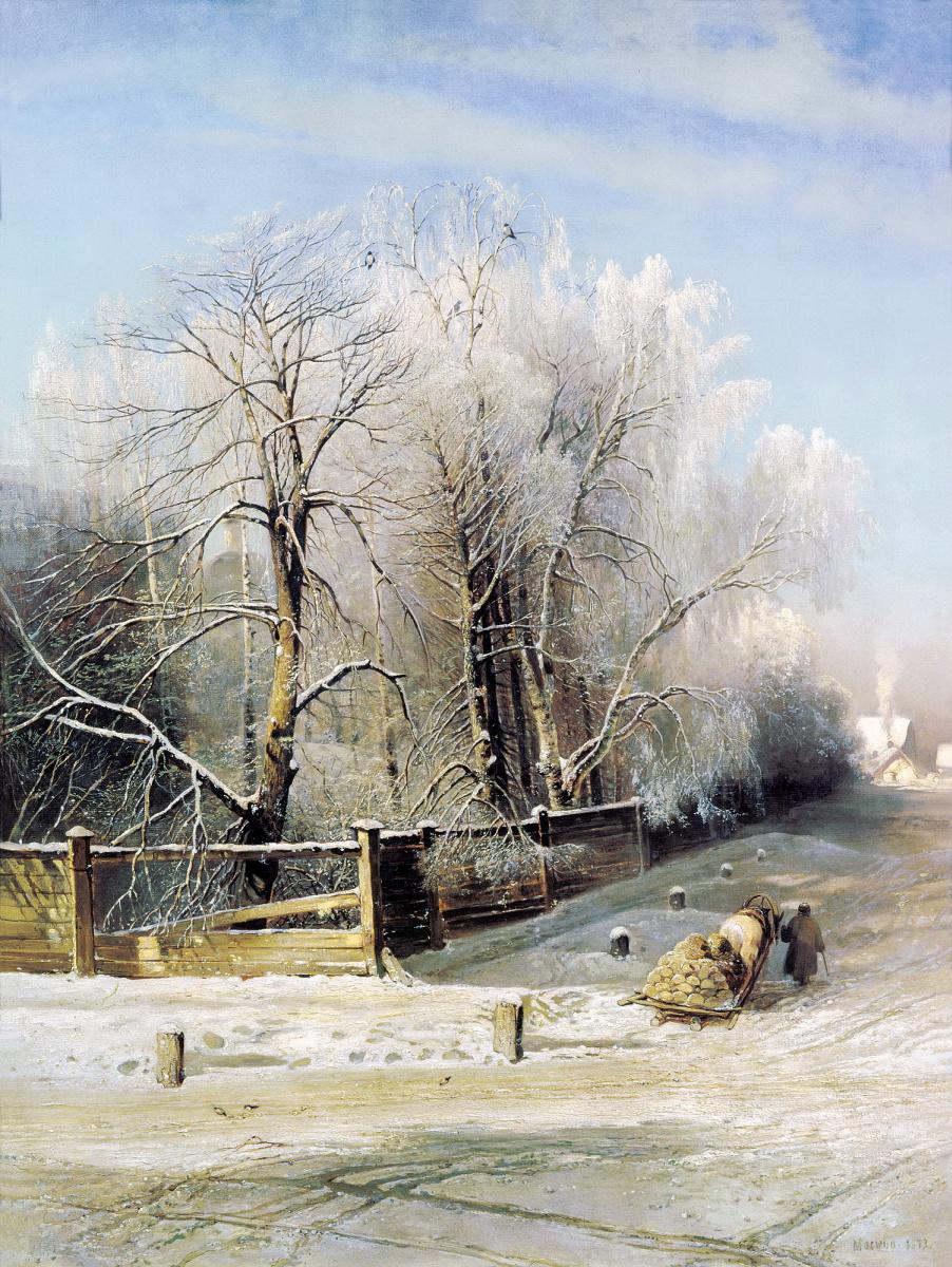 Алексей Кондратьевич Саврасов. Зимний пейзаж. Москва