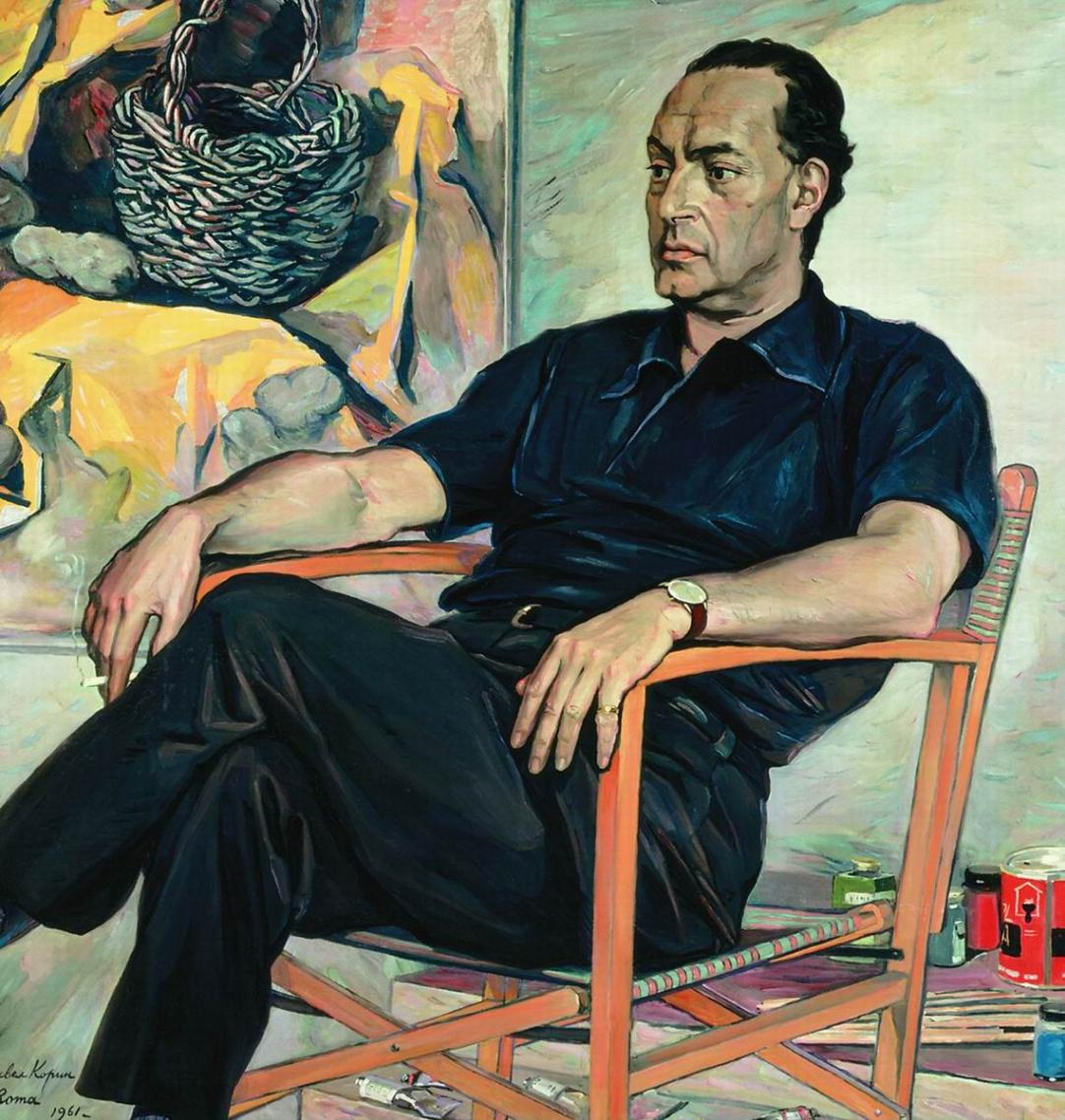 Pavel Dmitrievich Korin Russia 1892 - 1967. Portrait of Renato Guttuso. State Russian Museum, St. Petersburg