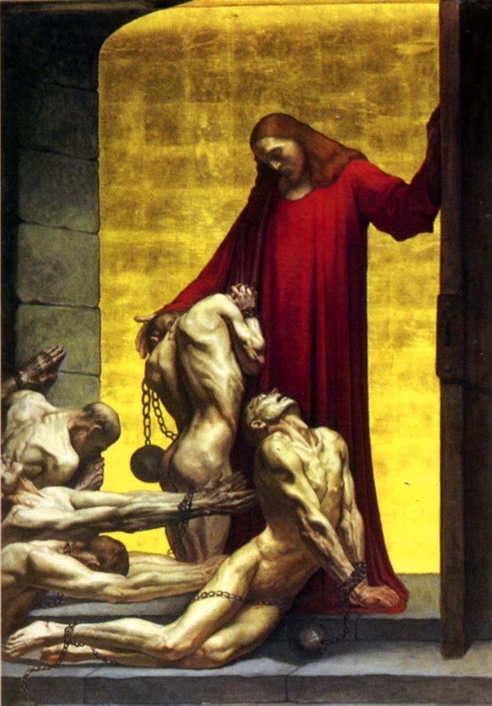 Жан Дельвиль. Христианское Правосудие: Христос прощает и утешает виновных (восстановлена после Второй мировой войны)