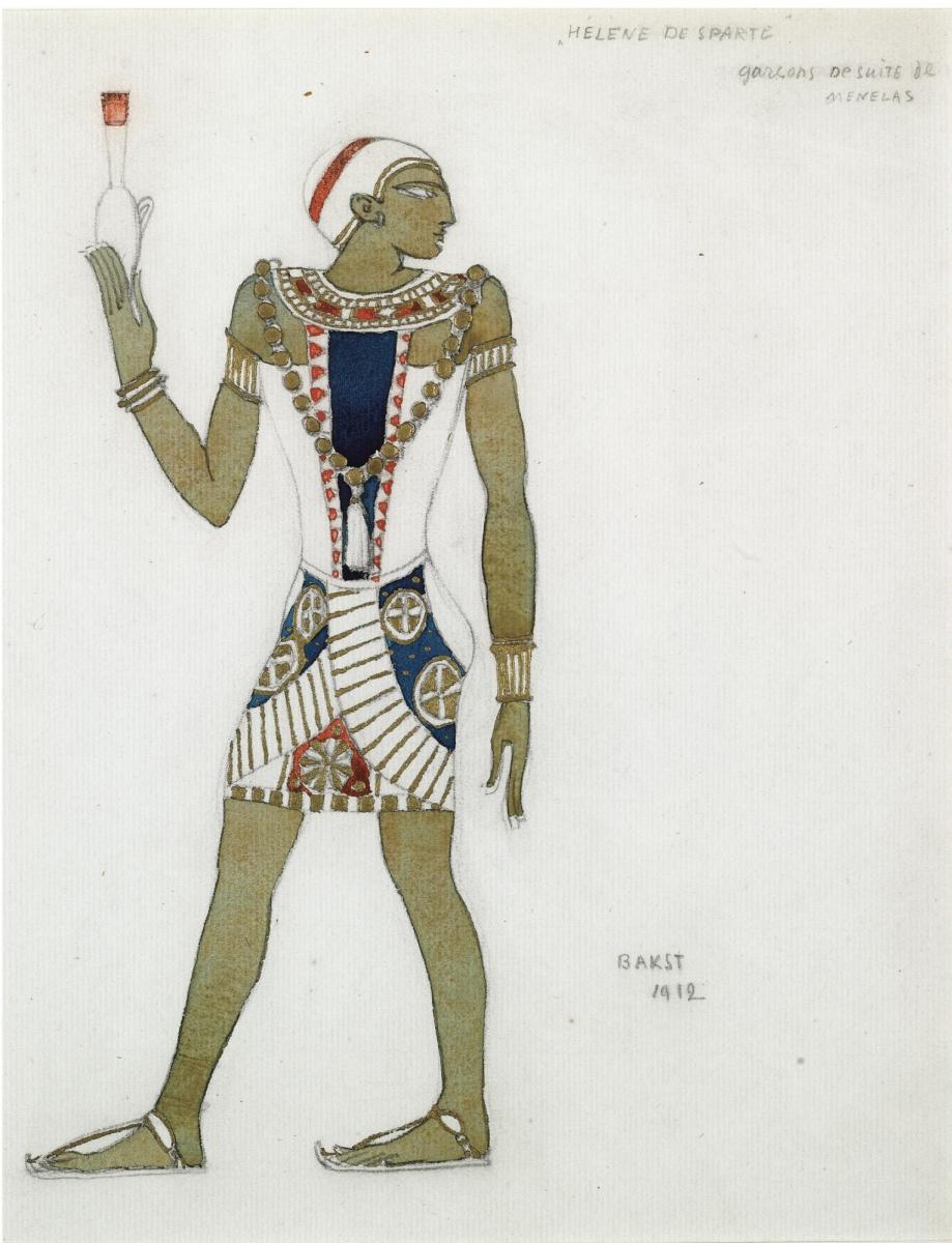 "Lev Samoilovich Bakst (Leon Bakst). Costume design for the tragedy ""Helen in Sparta"""