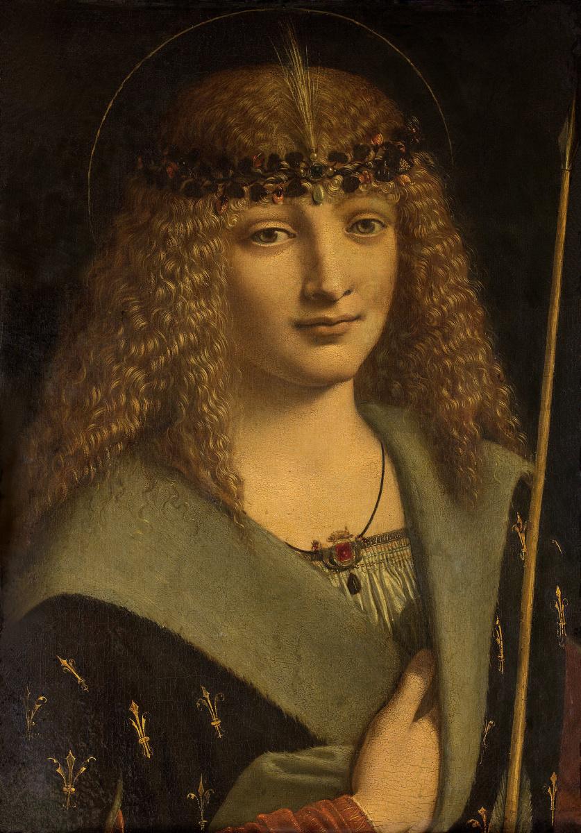 Giovanni Antonio Boltraffio. Portrait of a young man in the image of Saint Sebastian