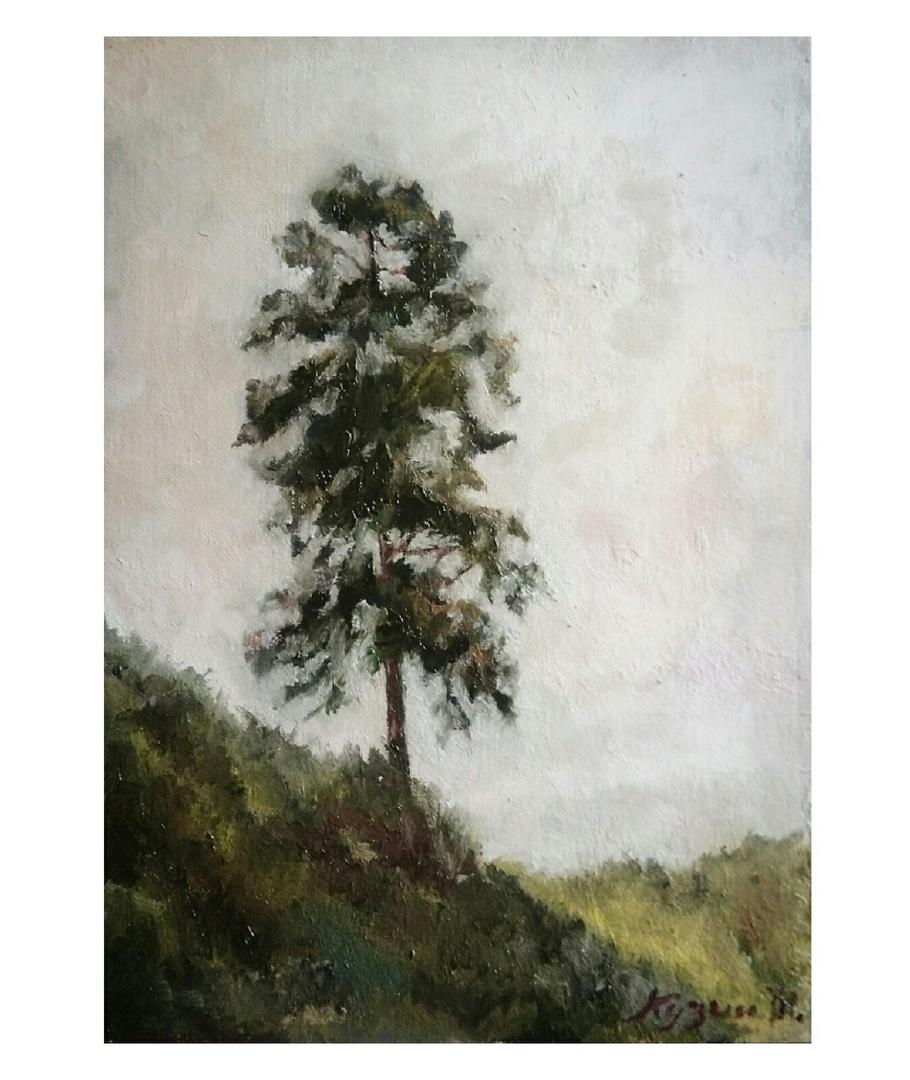 """Ivan Olegovich Kuzin. """"Pine on the slope"""""""
