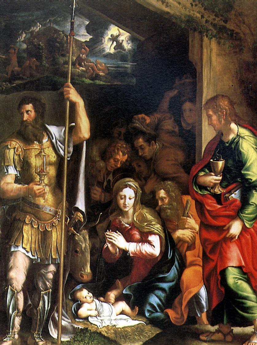 Джулио Романо. Рождество и Поклонение пастухов