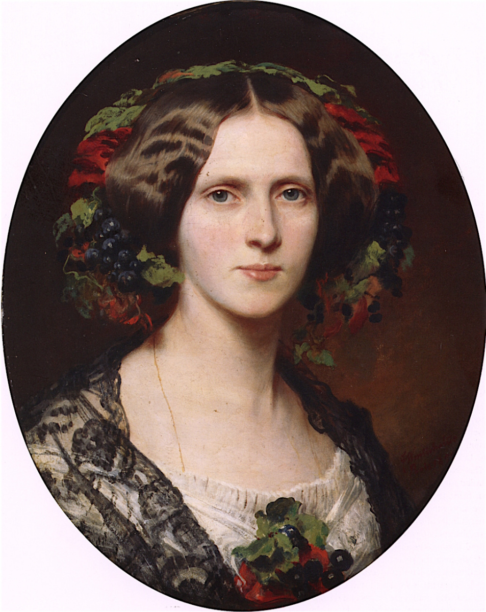 Франц Ксавер Винтерхальтер. Франциска (Фанни), принцесса Бирон из Курляндии, мадам Бойен