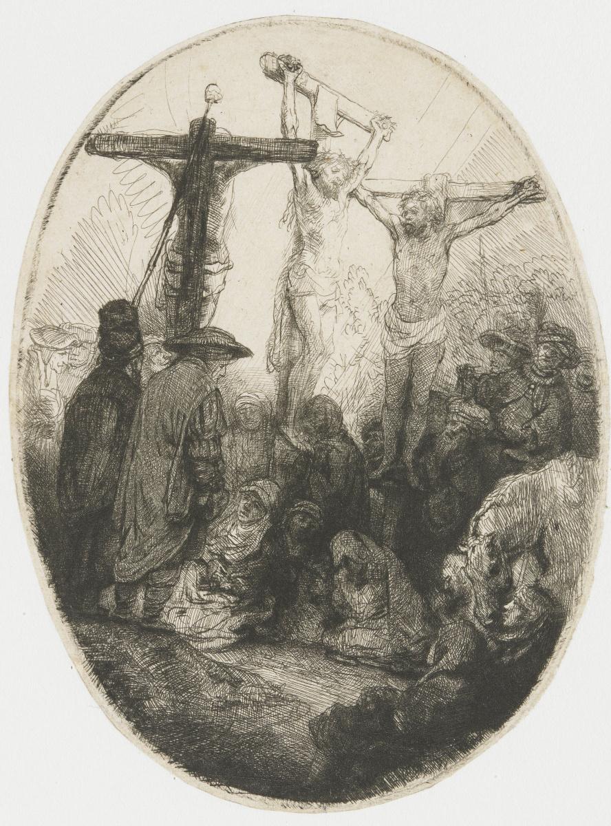 Рембрандт Харменс ван Рейн. Христос на кресте между двумя разбойниками