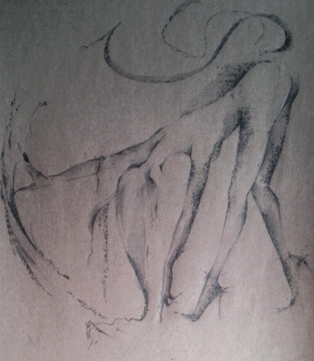 Olga Zilberte. Nude ... cat