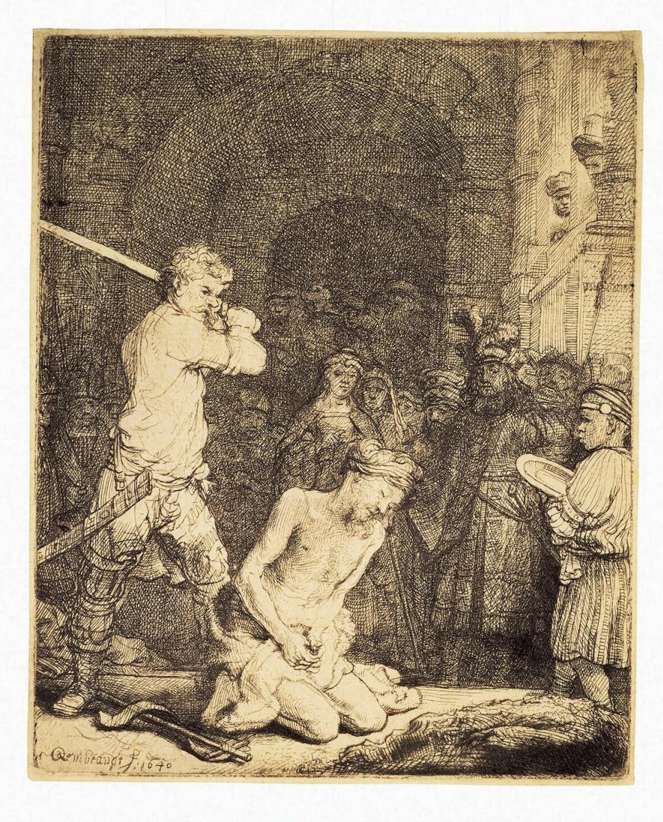 Рембрандт Ван Рейн. Усекновение главы Иоанна Крестителя