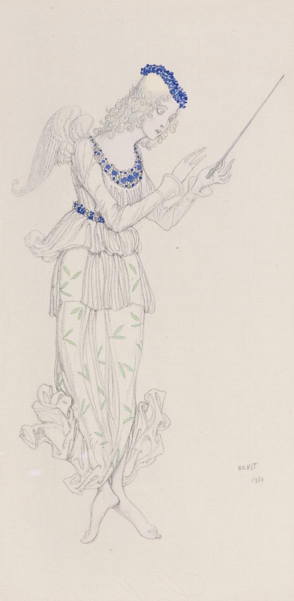 "Lev Samoilovich Bakst (Leon Bakst). Fairy. Costume design for the ballet ""the Sleeping Princess"""