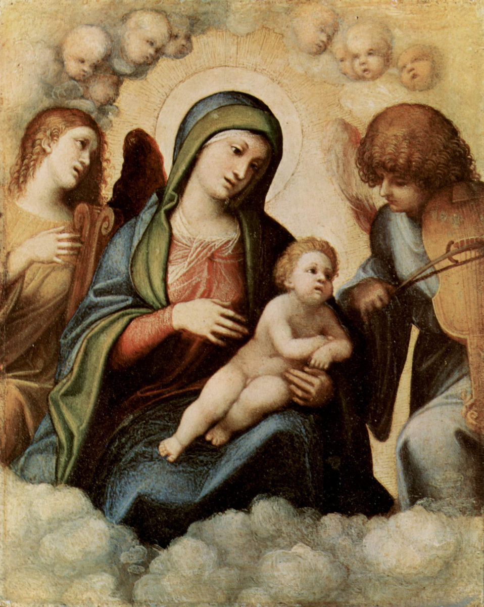 Антонио Корреджо. Мадонна с музицирующими ангелами