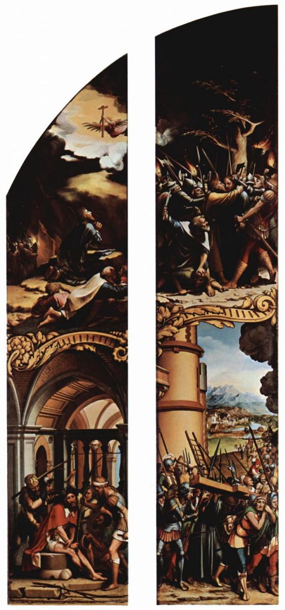 Ганс Гольбейн Младший. Осмеяние Христа, Христос в Гефсиманском саду