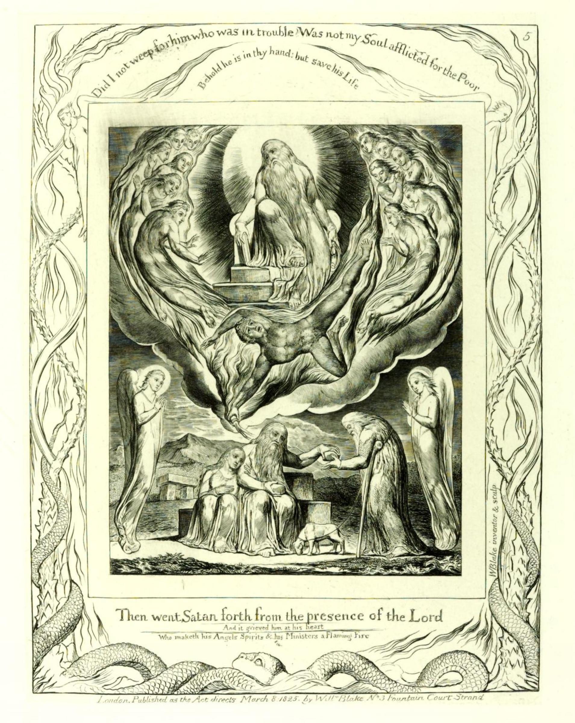 Уильям Блейк. Иллюстрация к «Книге Иова»