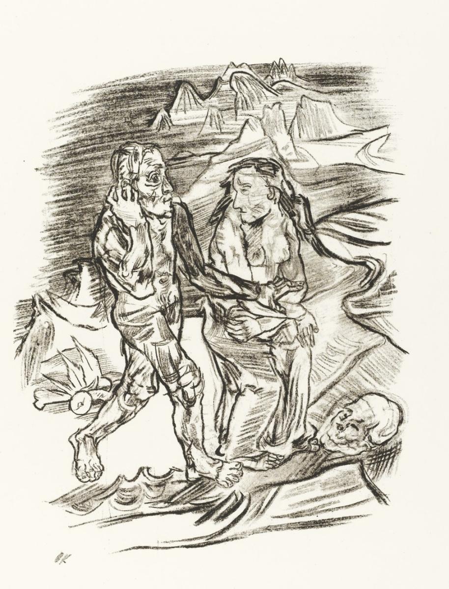 Оскар Кокошка. Мужчина и женщина идут по Дороге смерти