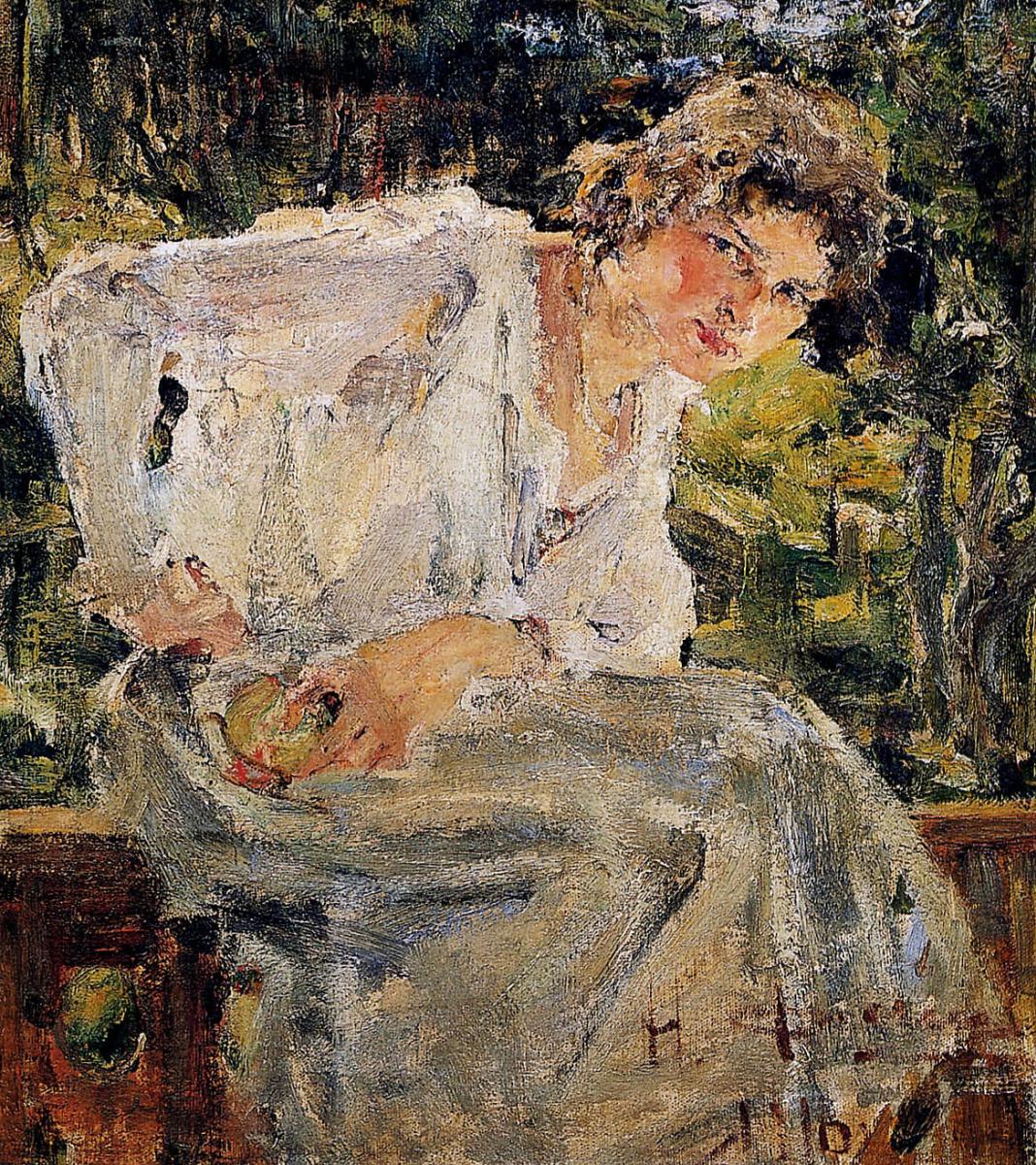 Nikolay Feshin. Portrait of a young woman (Natalia Podbelskaya)