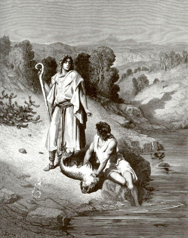 Поль Гюстав Доре. Ангел и Товия