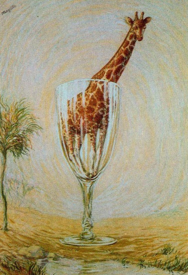 René Magritte. Bath in a glass