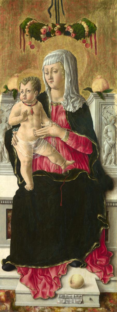 Скьявоне Джорджио. Дева с младенцем на троне