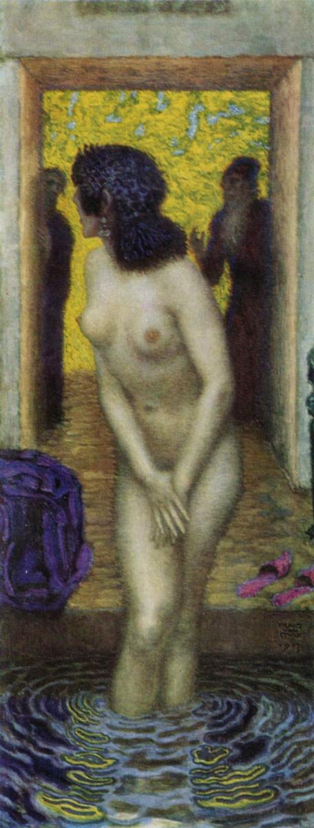 Franz von Pieces. The Bathing Susanna