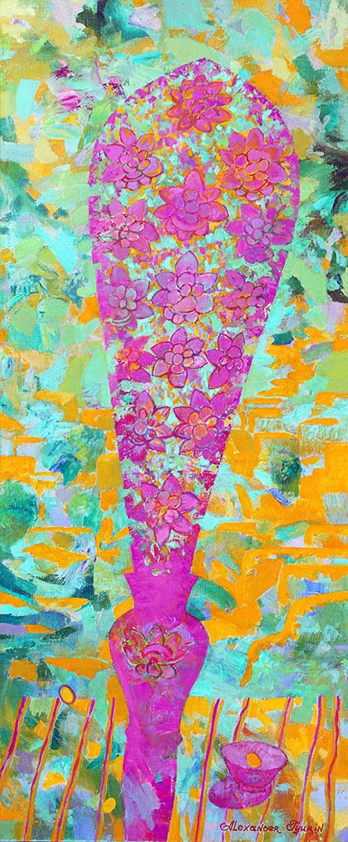 Левая часть триптиха.Color-phagos х.м. 120х50   2012г.