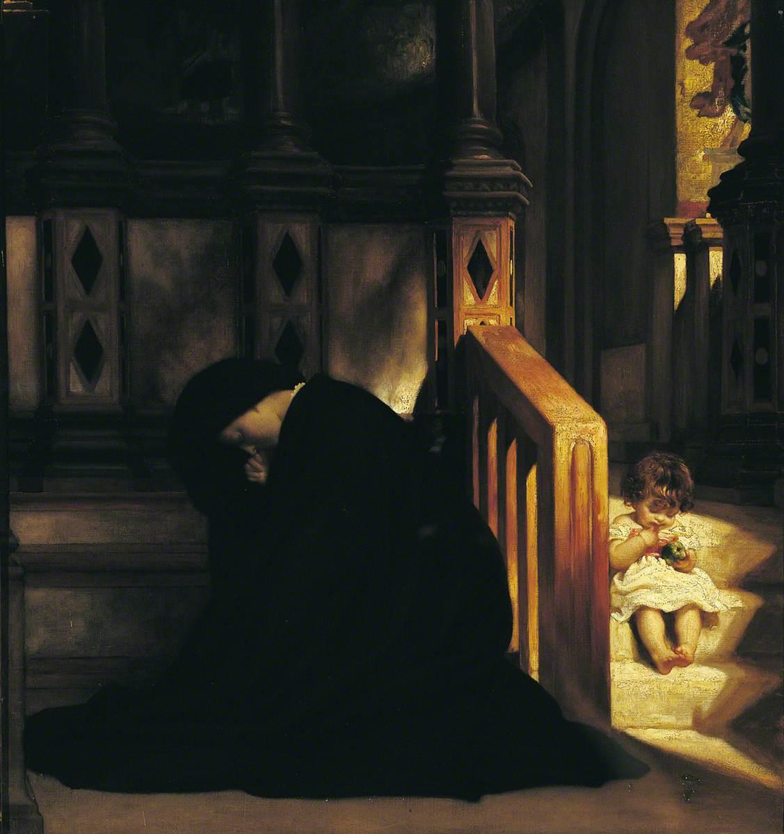 Сэр Фредерик Лейтон. Молитва вдовы