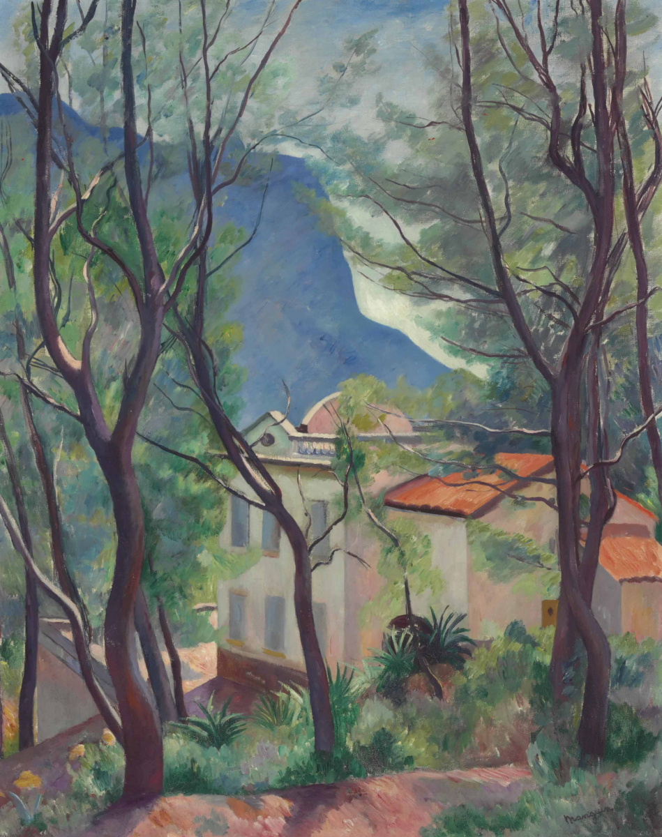 Henri Manguin. House among the trees, Villecroze