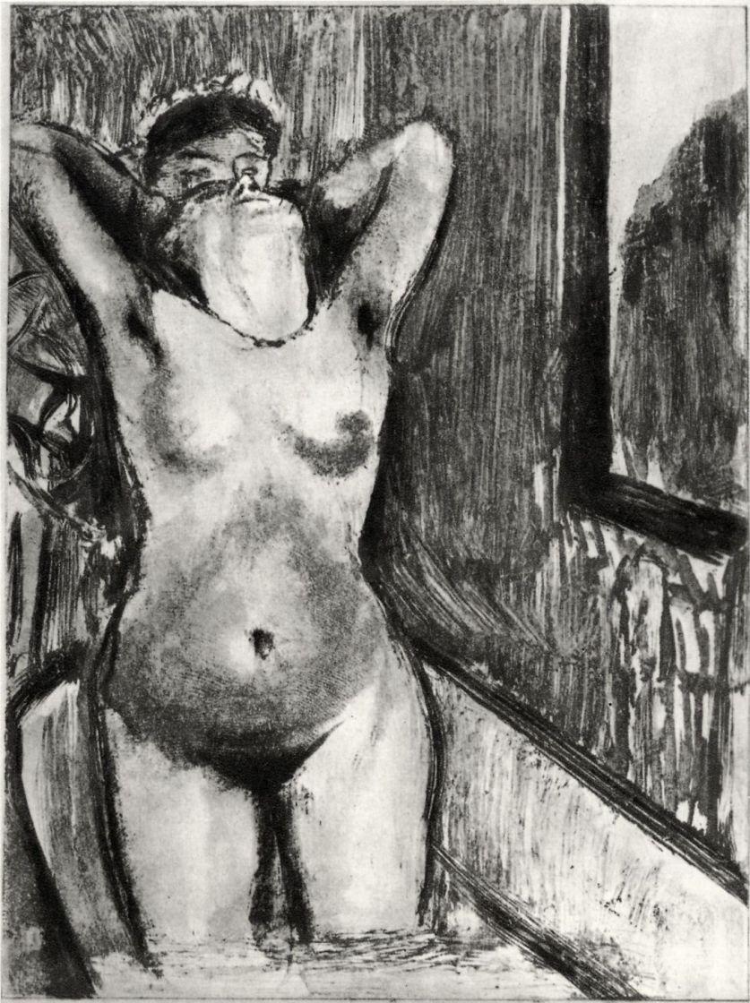 Эдгар Дега. Стоящая в ванне