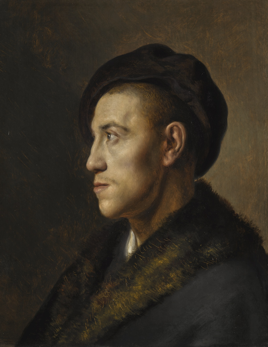 Ян Ливенс. Портрет молодого человека в берете