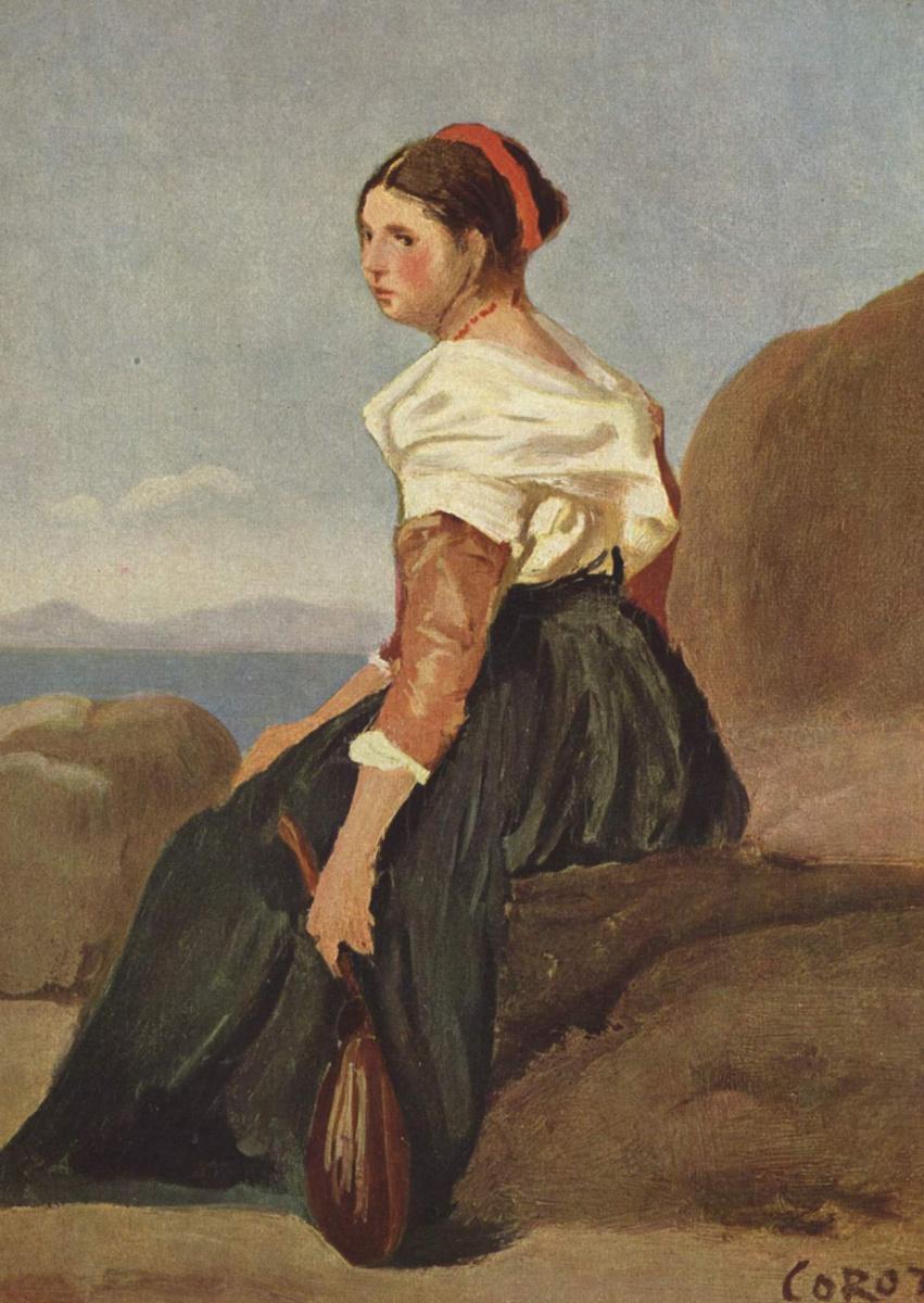 Камиль Коро. Женщина с мандолиной