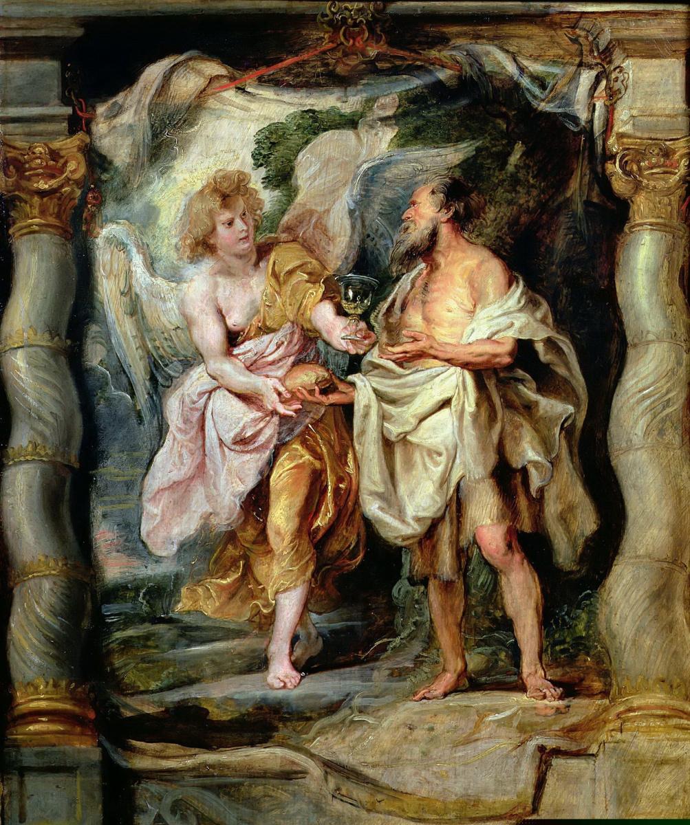 Питер Пауль Рубенс. Пророк Илия и ангел в пустыне