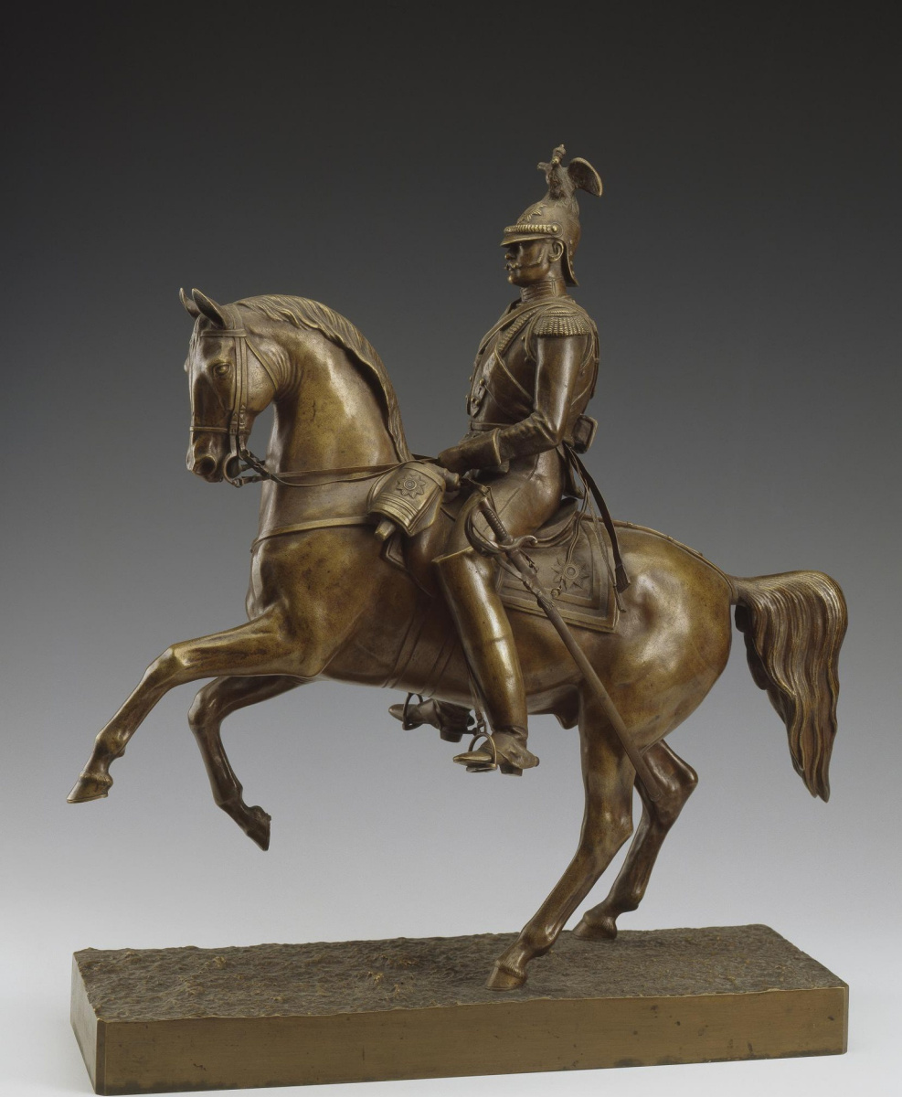 Peter Karlovich Klodt von Jurgensburg. Model of an equestrian statue for a monument to Emperor Nicholas I on St. Isaac's Square in St. Petersburg