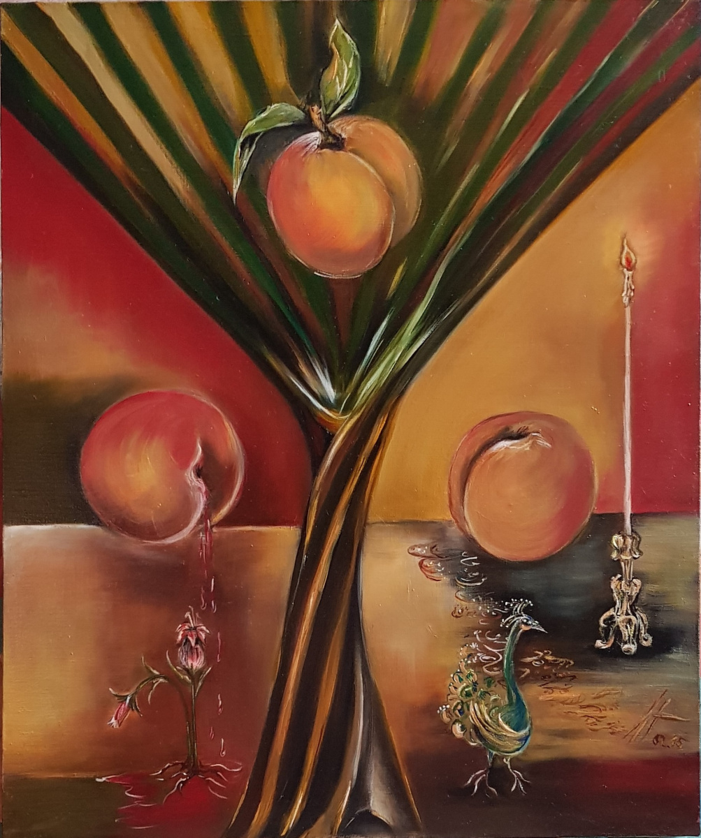 Liudmila Nakhabina. Three peaches
