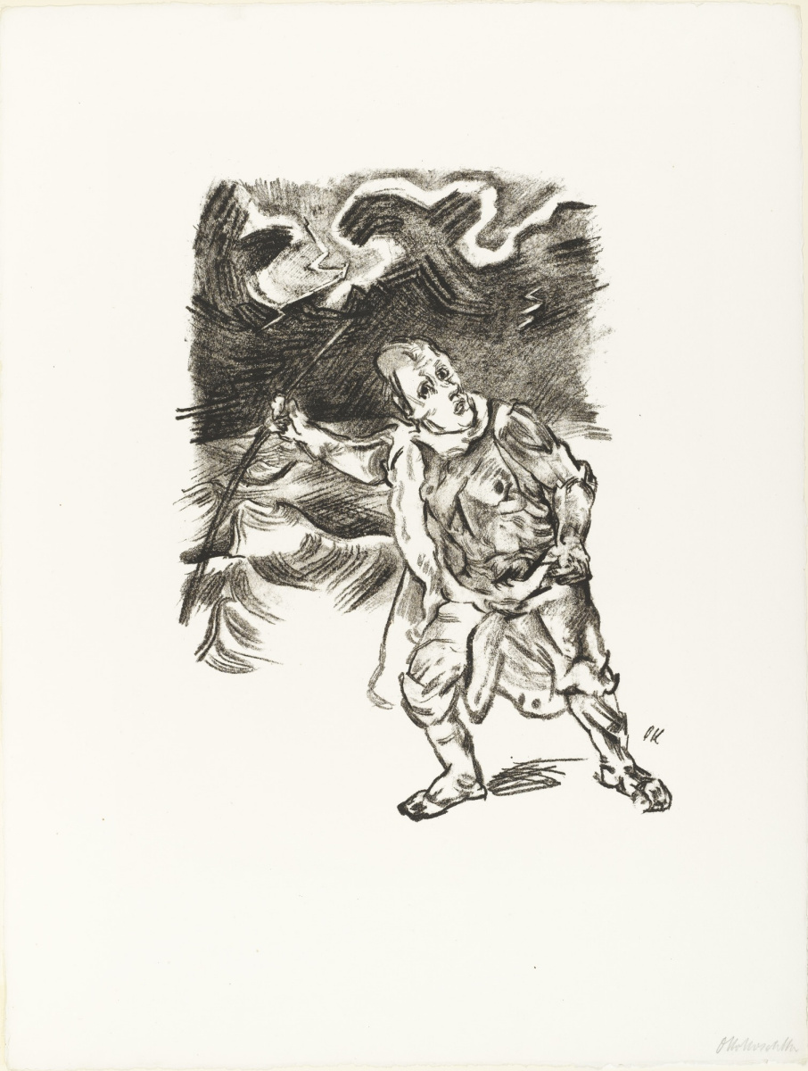 Oskar Kokoschka. Traveler during a thunderstorm
