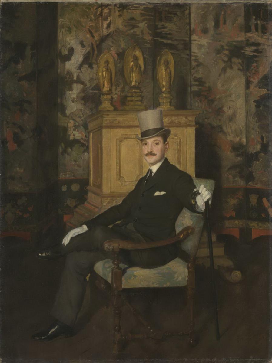 Gerald Kelly. Mocker. Portrait Of S. Maugham