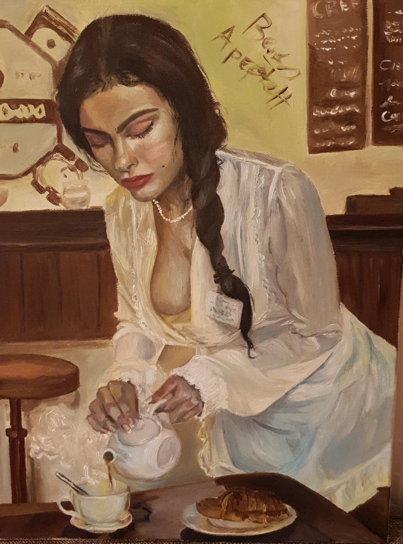 Catherine Samitina. A cafe