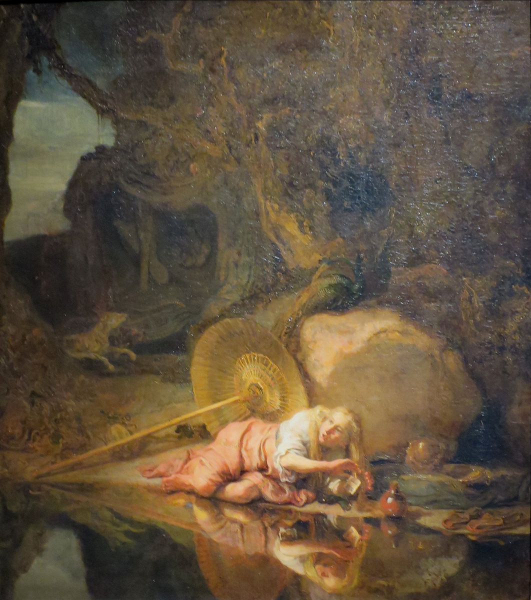 Karel Fabricius. Hera taking refuge during a battle between gods and giants