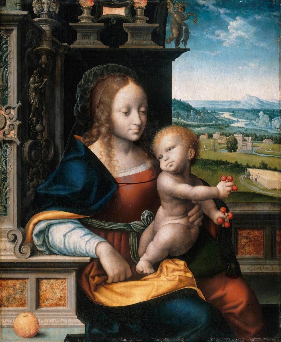 Йос ван Клеве. Мадонна с младенцем. около 1525