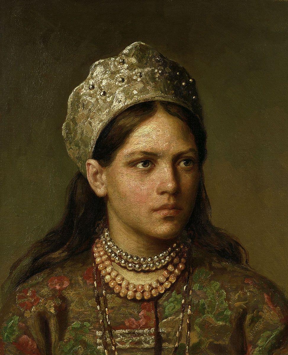 Фото девушки в русском костюме