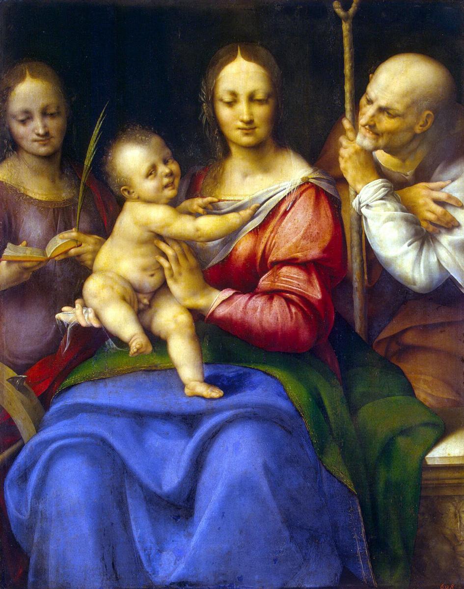 Чезаре да Сесто. Святое Семейство со Святой Екатериной