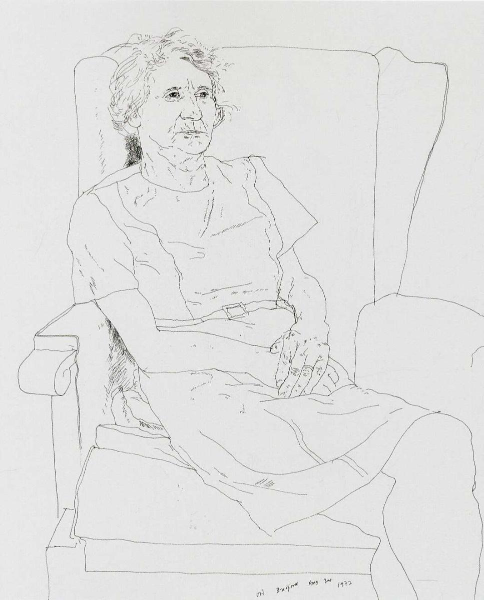 Дэвид Хокни. Портрет матери художника. Миссис Лора Хокни, Брэдфорд