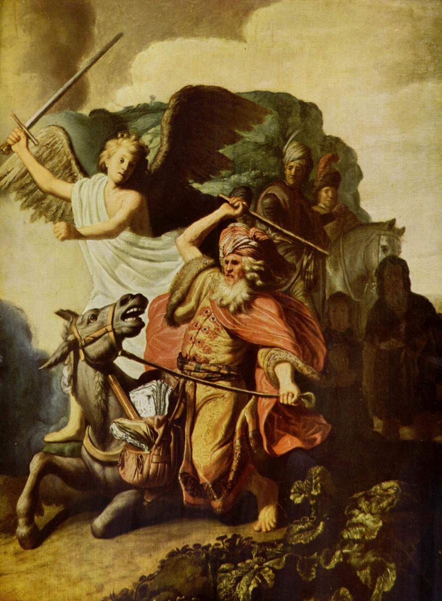 Рембрандт Ван Рейн. Пророк Валаам и ослица