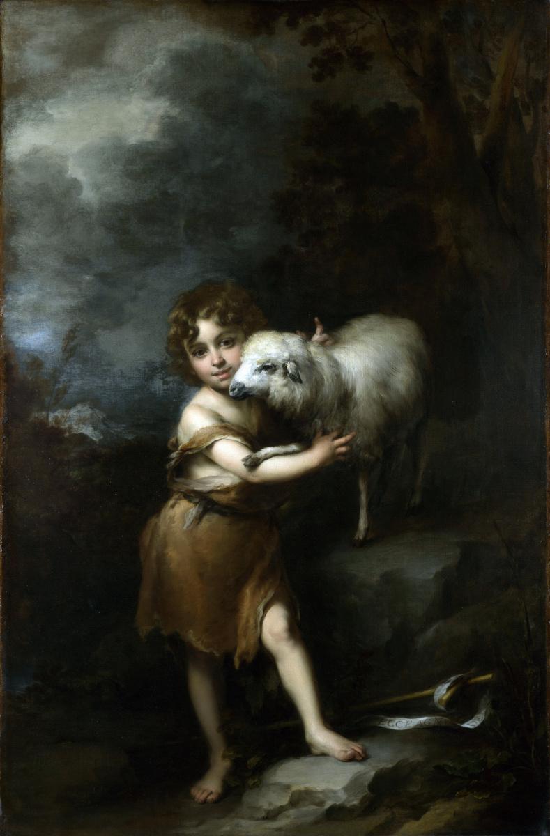 Бартоломе Эстебан Мурильо. Юный Иоанн с Агнцем
