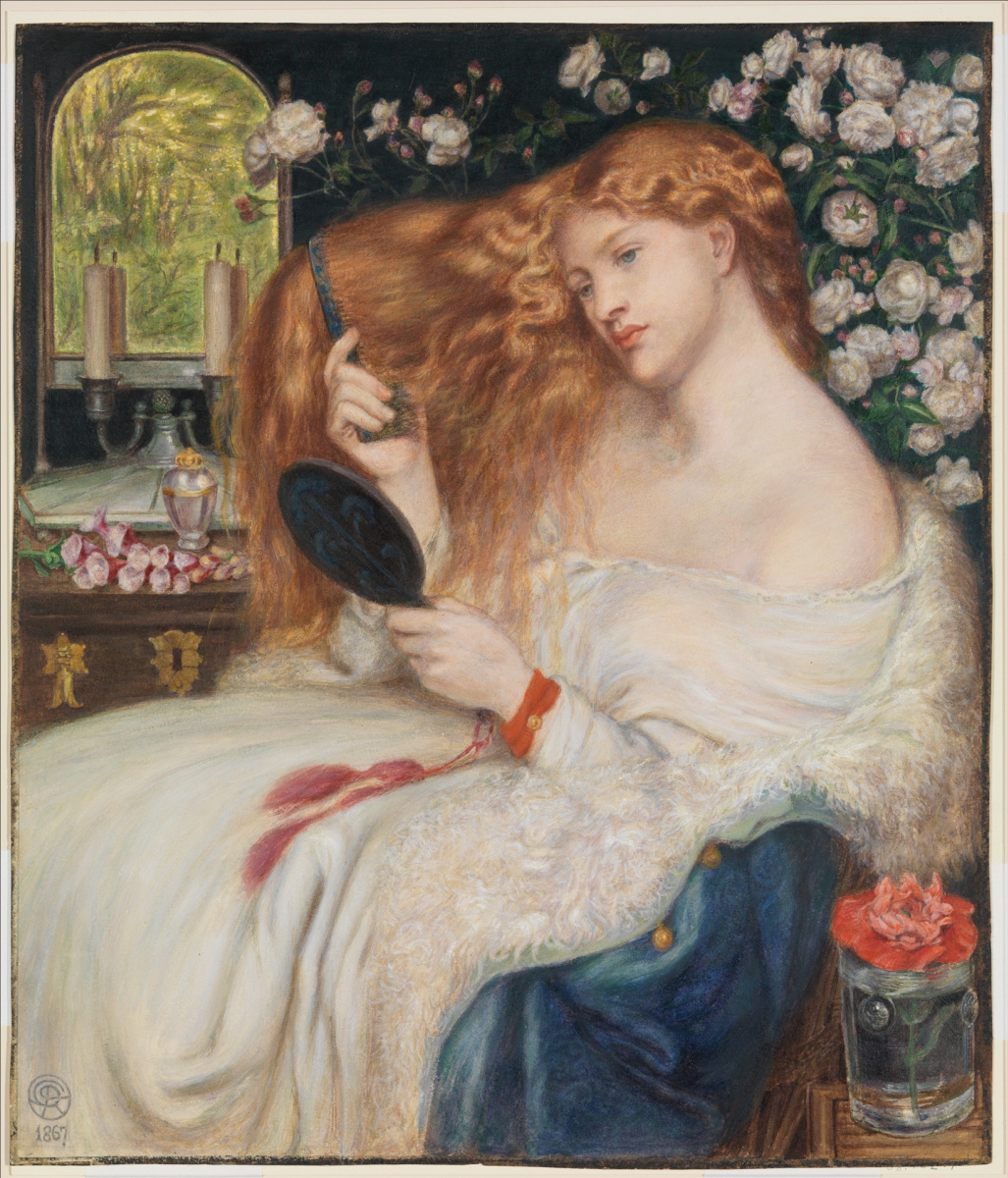 Dante Gabriel Rossetti. Lady Lilith (watercolor version)