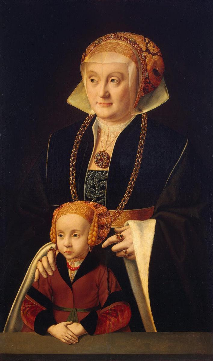 Бартоломеус Старший Брейн. Портрет дамы с дочерью