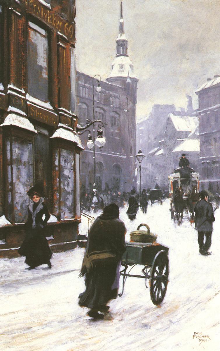 Пол Фишер. Улица зимой