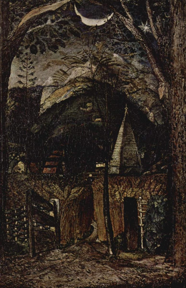 Сэмюэл Палмер. Холмистый пейзаж