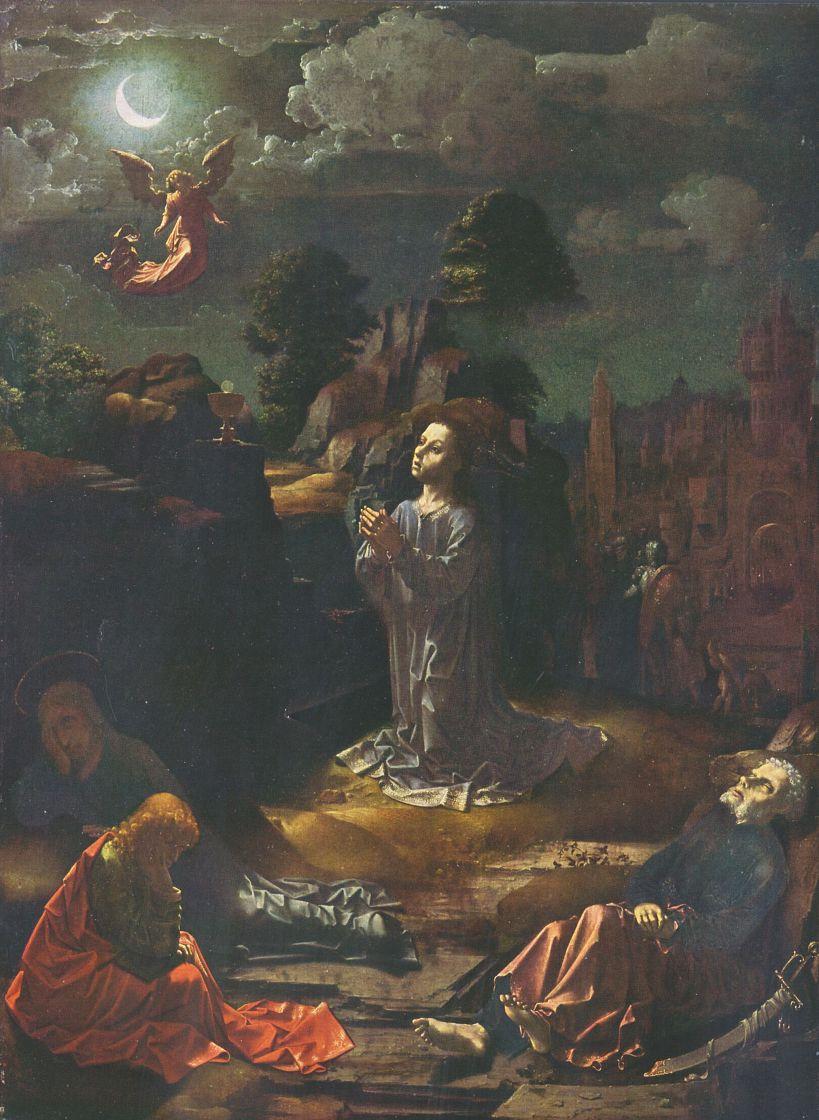 Ян Госсарт. Христос в Гефсиманском саду